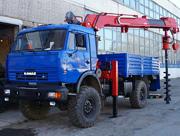 Бурильно-крановая машина КАМАЗ